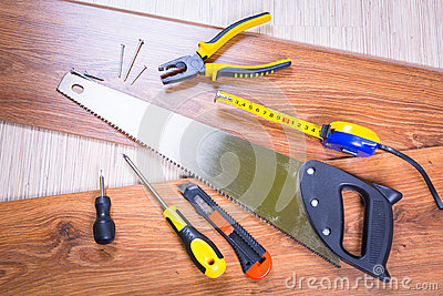 Set of tools for home renovation