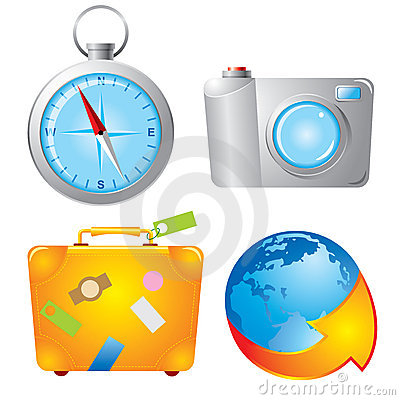 Set travel icons