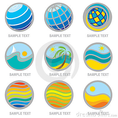 Set of travel and vacation icons