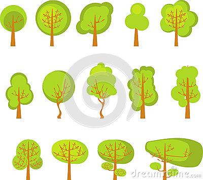 A set of trees