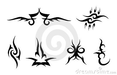Set of tribal signs