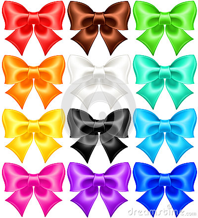 Set of twelve festive bows