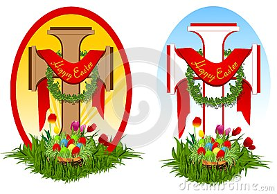 Set of two easter crosses