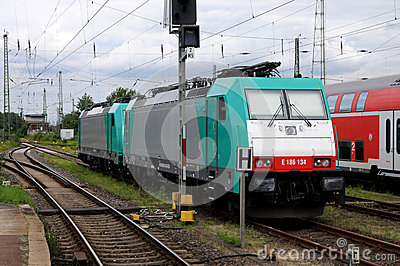 Set of two locomotives Editorial Photography
