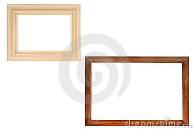 Set of two wooden frames