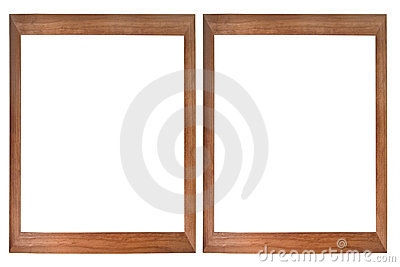 Set of two wooden photo frames