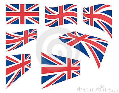 Set of United Kingdom flags