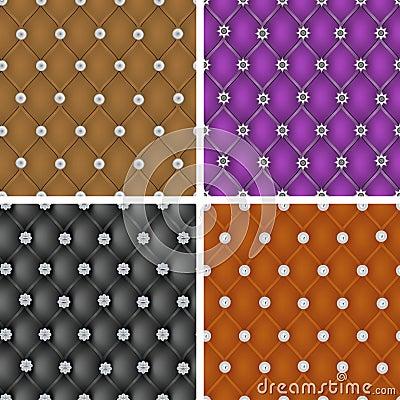 Set of   upholstery seamless pattern.