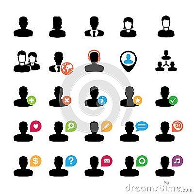 Set użytkownik ikony