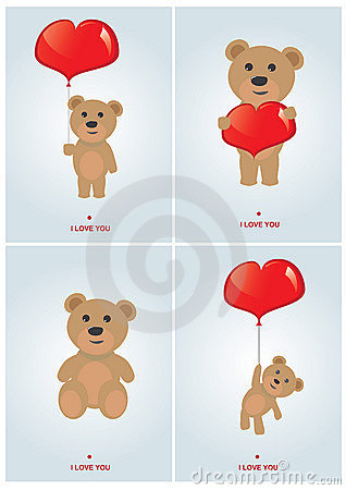 Set of valentine s day cards