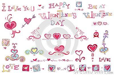 Set of Valentine s design ele