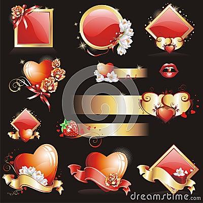 Set with Valentines design
