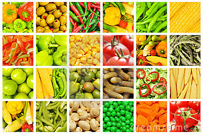 Set of various  vegetables