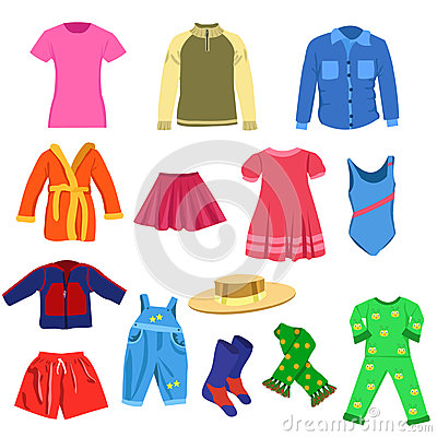 Set of vector clothes