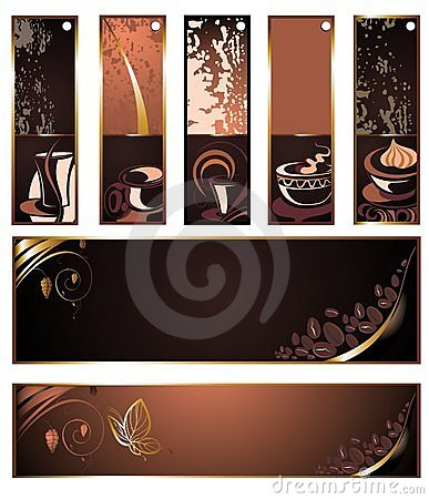 SET Of Vector Coffee,tea Banners Royalty Free Stock Images - Image: 15056819