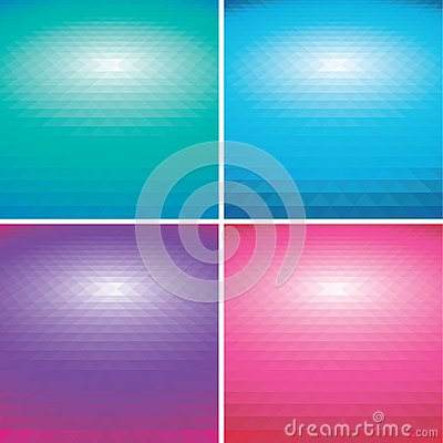 Set of vector colorful Abstract triangle backgroun