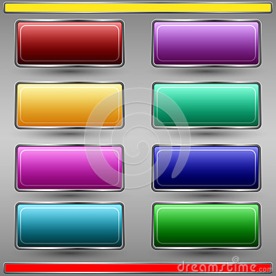 Colorful buttons vector set