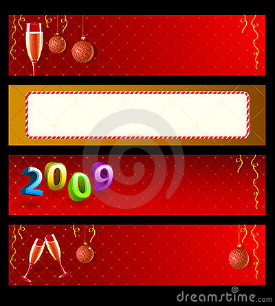 Set of vector holiday banners
