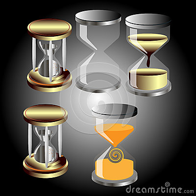 Set of vector hourglass