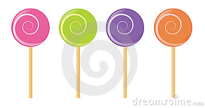 Set of vector lollipop