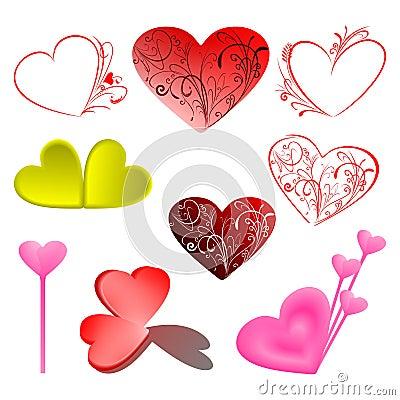 Set Vector Love Illustration