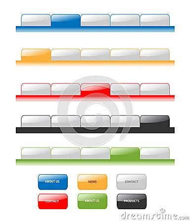 Set of vector navigation tabs.