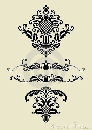 Set of vector ornaments for design