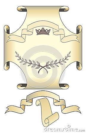 Set of vector scrolls