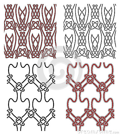 Set of vector seamless celtic design elements