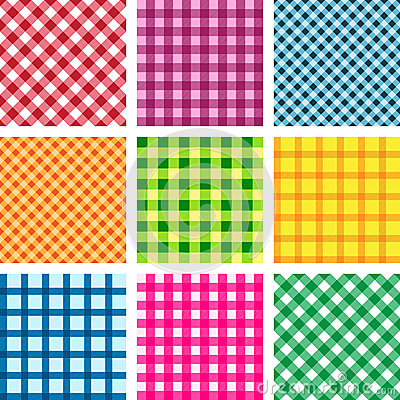 Set of vector tablecloth seamless backgrounds