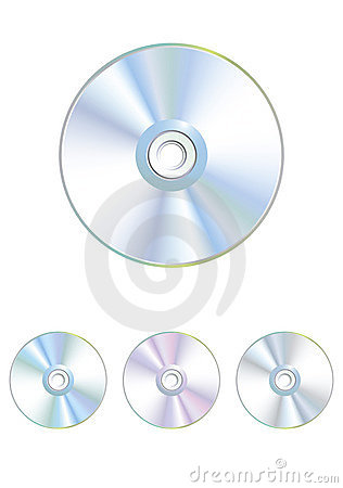 Free Set Vector Varicoloured CD, DVD Disk Stock Photo - 8836970