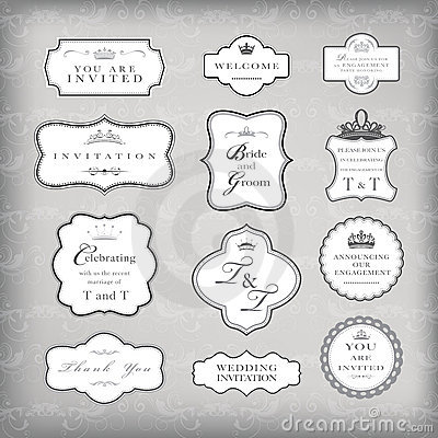 Set of vector vintage frames