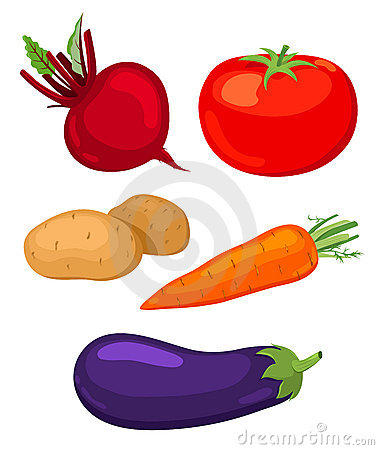 Set of vegetables.