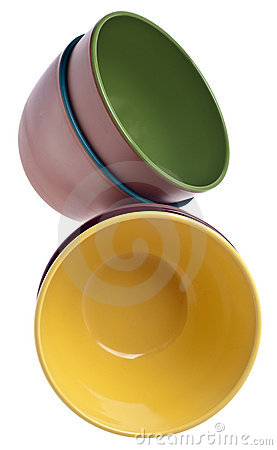 Set of Vibrant Plastic Bowls