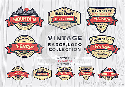 Set of vintage badge/logo design, retro badge design for logo Vector Illustration