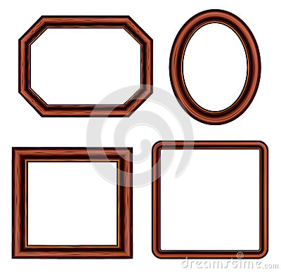 Set Of Vintage Brown Picture Frames. Stock Photos - Image: 24904953