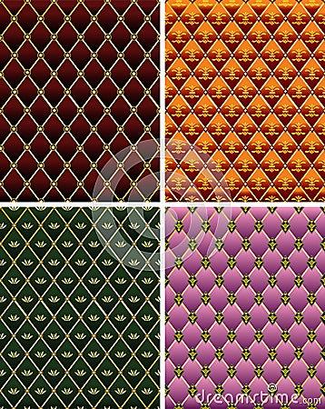 Set of vintage colorful  mosaic tile background.