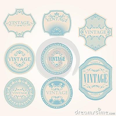 Set of vintage label