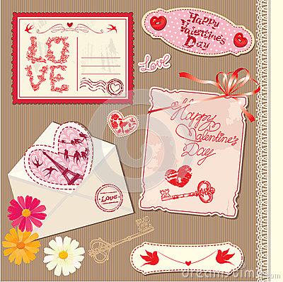 Set Of Vintage Valentines Day Postcards Images Image 28616264 – Valentines Day Post Cards