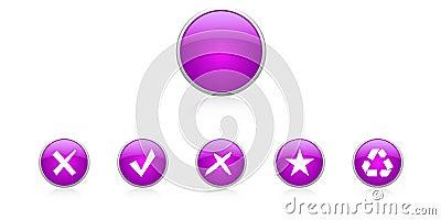 Set violet buttons