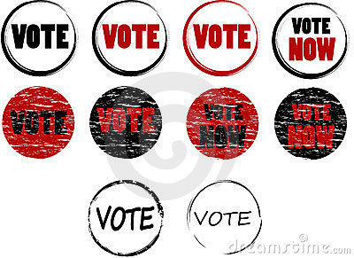 Set of vote stamps