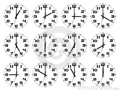 Set of watches isolated