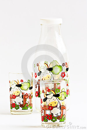 Set of water bottle for gift.