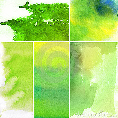 Set of watercolor abstract backgrounds