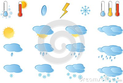 Set of weather icos