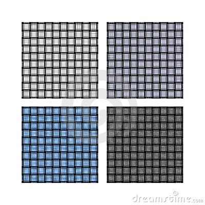 Set of weave background patterns