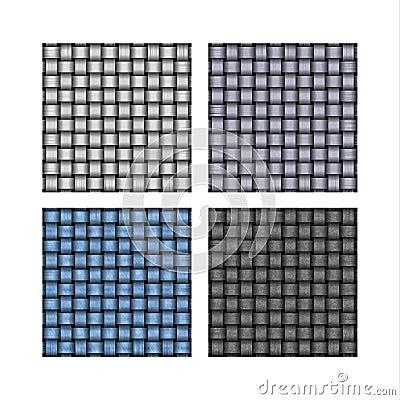 Set of weave background patterns