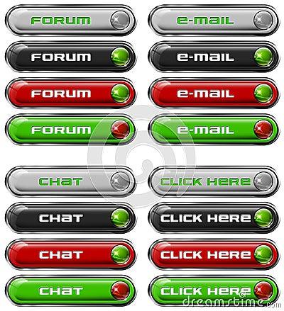 Set Web buttons n. 6