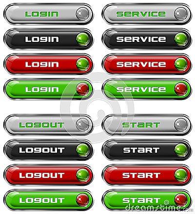 Set Web buttons n. 7
