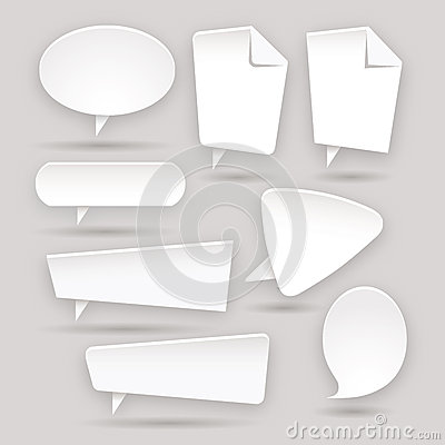 Set of Web color stickers - labels - tags - bubble